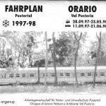 Taschenfahrplan Pustertal, 1997-98, 9x12 cm, 24 Seiten, Titelblatt