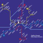"""""""Una rete urbana per Brunico"""" 1999: grafico di rete"""